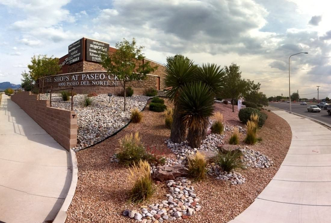 Image of commercial landscaping maintenance in albuquerque Nm