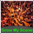 Grow My Scene with white border