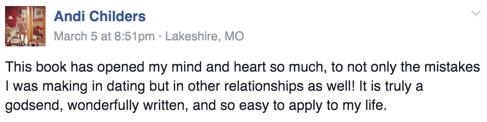 To Love and Be Cherished Book Testimonial Andi Childers