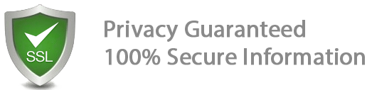 SSL - Privacy Guaranteed, 100% Secure Information