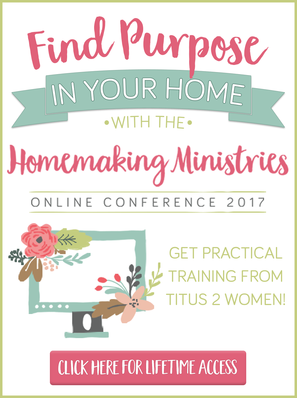 Find purpose in your home, along with balance & greater joy, as you learn alongside 23 amazing Titus 2 women at this year's Homemaking Ministries Conference!