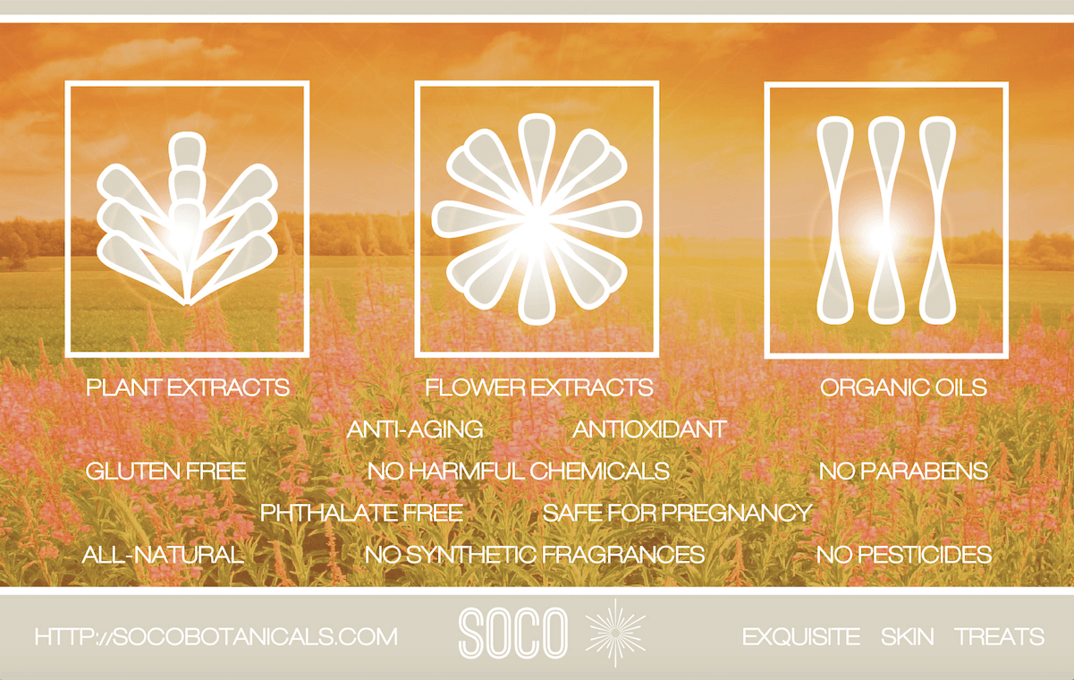 SOCO BOTANICALS  oils for face skin for natural UV protection, antioxidants, essential fatty acids, vitamins A,C, E and more. Natural essential oils for face including Sea Buckthorn Oil, CoQ10, Jojoba, Avocado Oil, Raspberry Seed Oil, Rosehip & Neroli are the new skin elixirs.