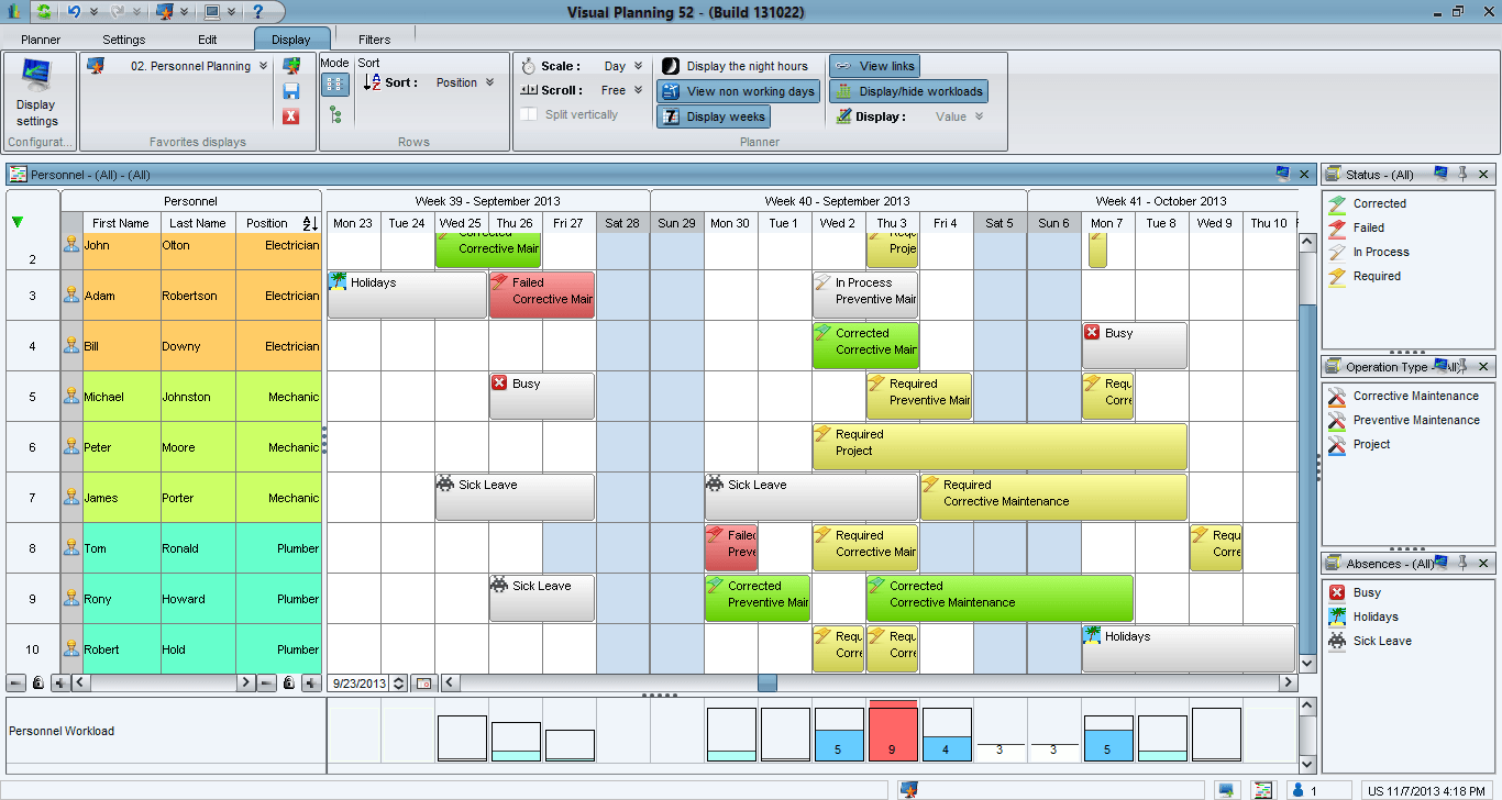 Visual Planning Screenshot