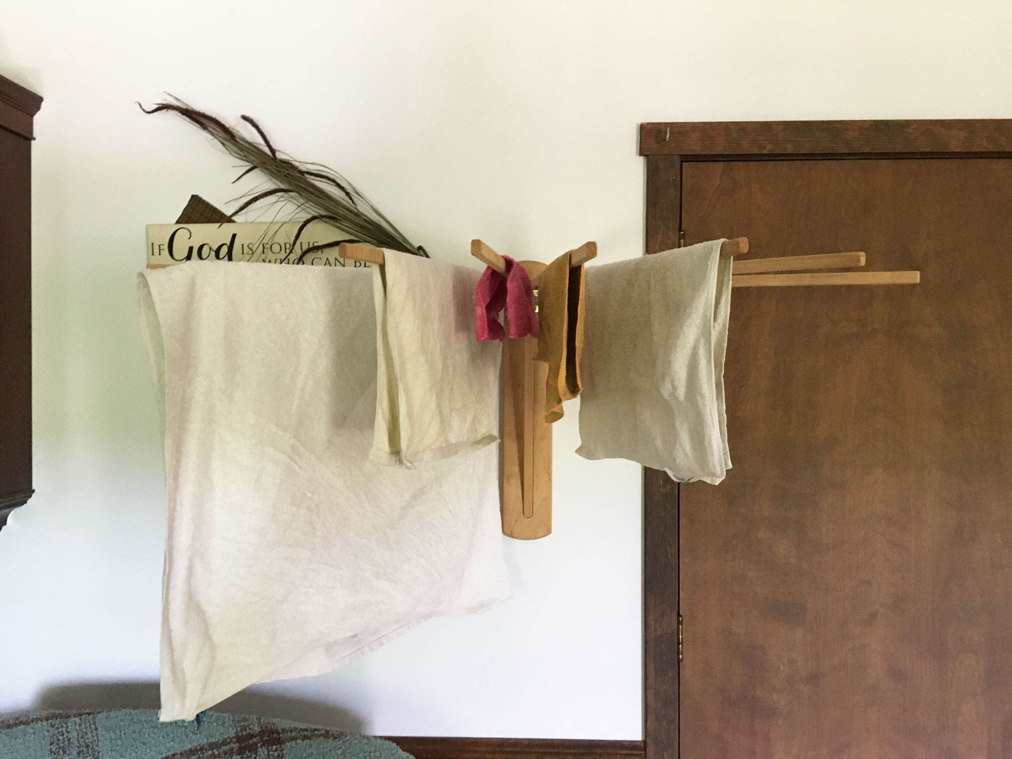 Wall Mounted Clothes Drying Rack for Laundry