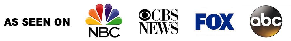 As Seen On NBC, CBS, Fox, ABC