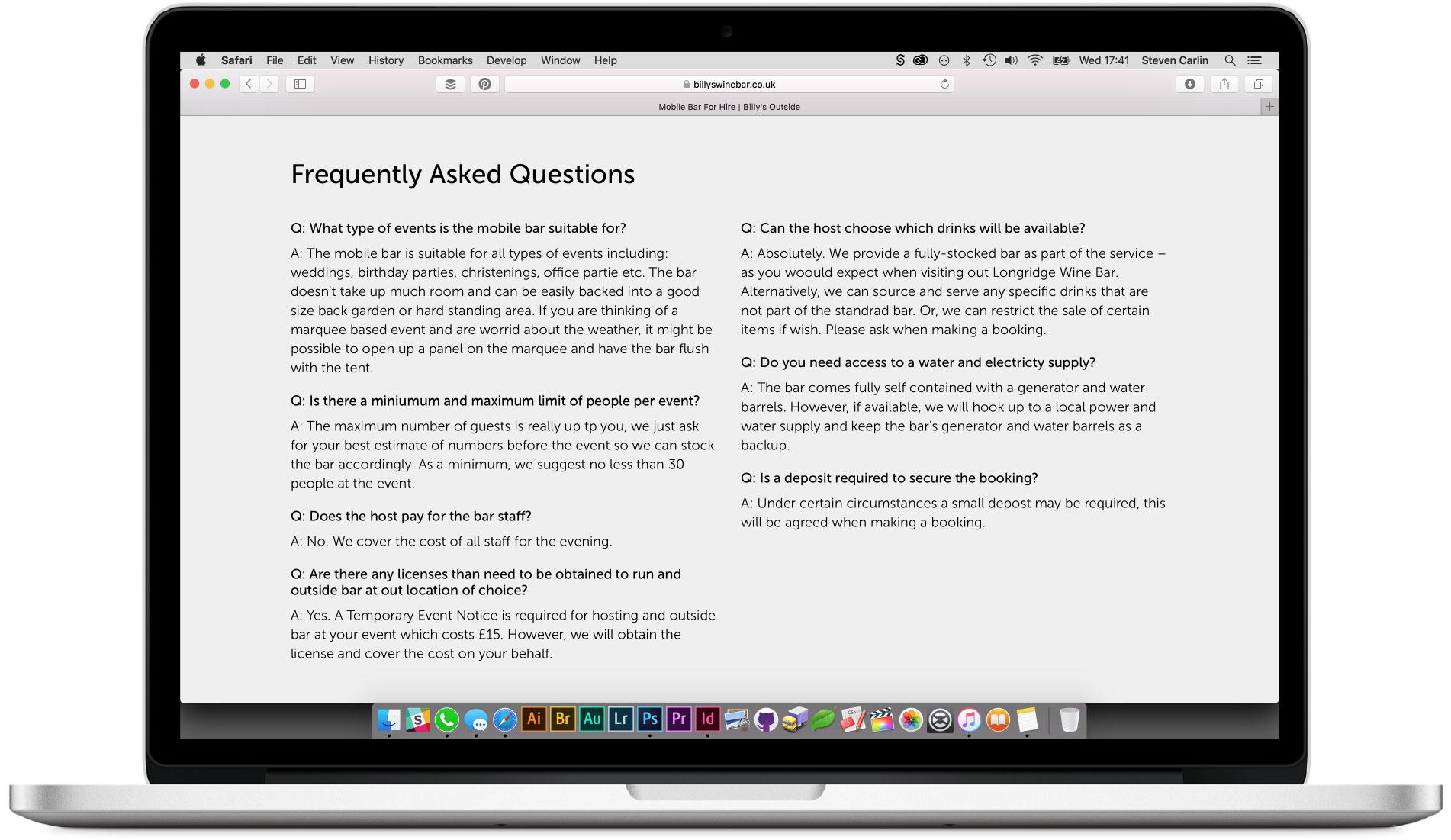 FAQ section.