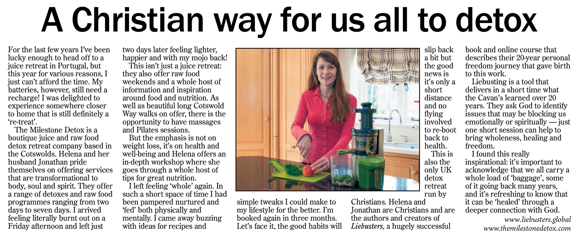 The Milestone Detox Mail On Sunday Juice Detox Raw Food Cotswold Boutique Spa