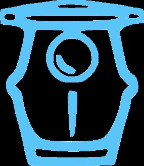 Blue pool pump equipment icon