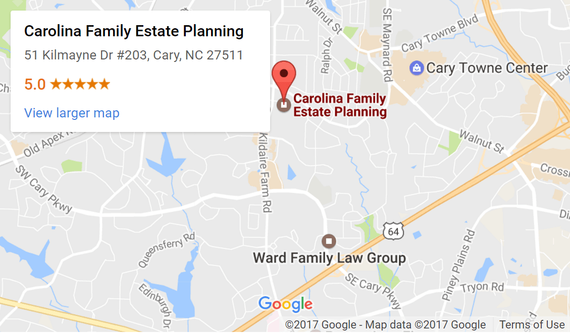 Carolina Family Estate Planning - 51 Kilmayne Dr #203, Cary, NC 27511