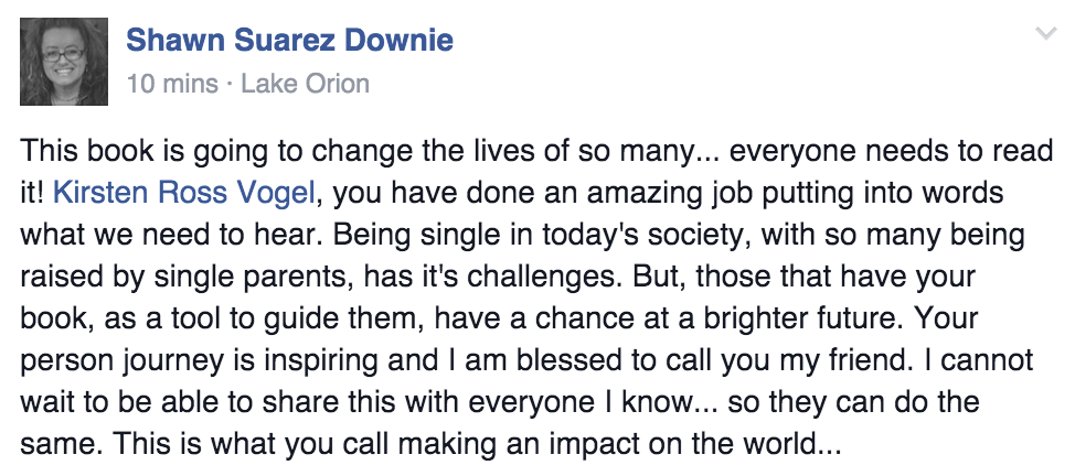 To Love and Be Cherished Book Testimonial Shawn Downie