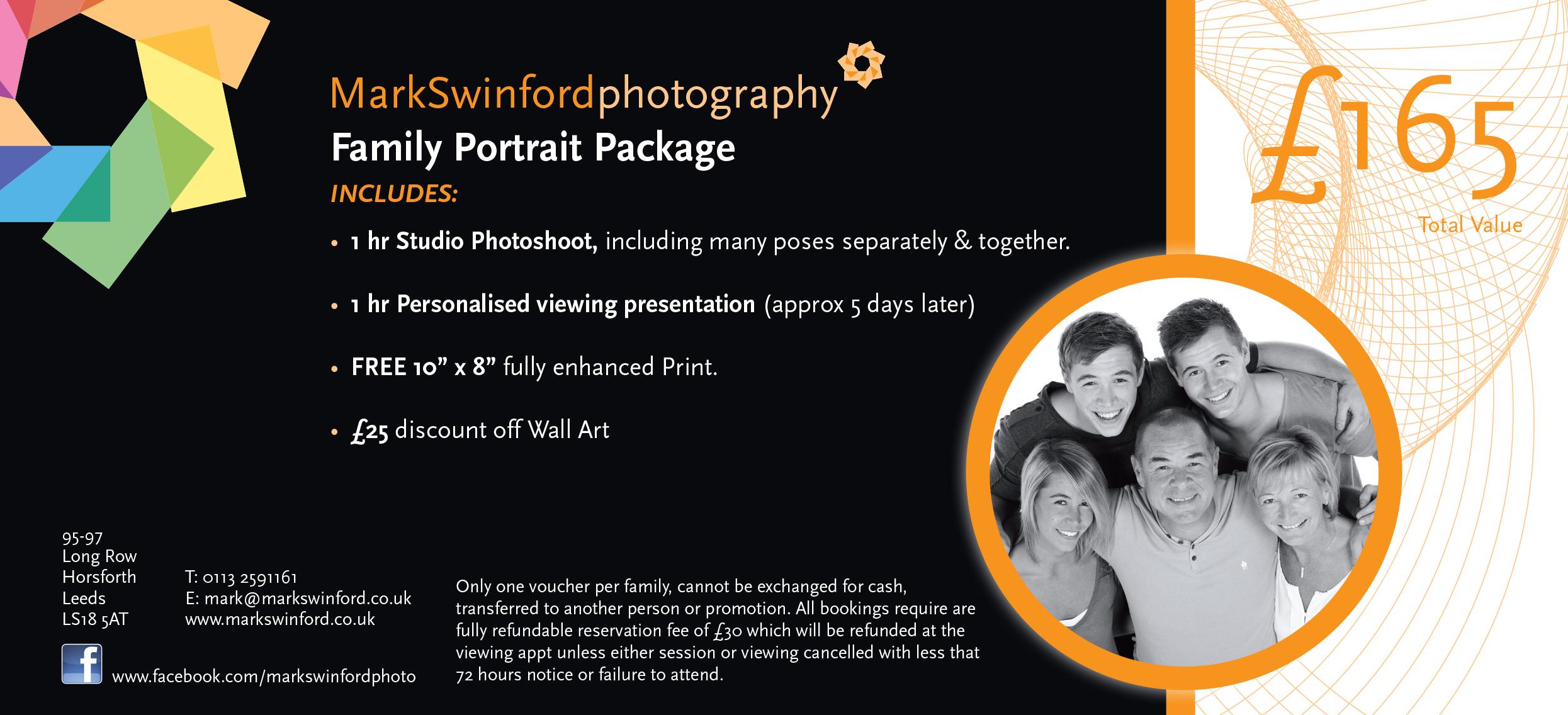 Mark Swinford Photography Family Portrait Voucher